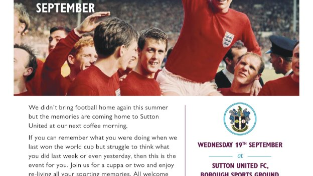 Our September Sporting Memory Cafe
