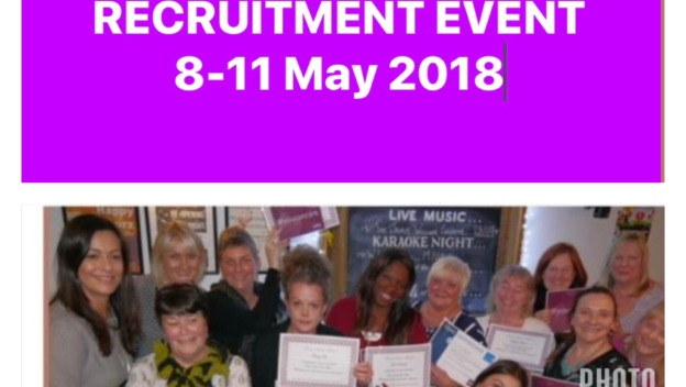 Recruitment Event 8 -11 May 2018