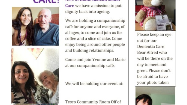Home Instead Senior Care teams up with Tesco\'s again to hold a Companionship Cafe