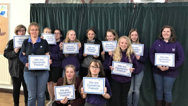 Dementia Friends Session for Ranger Girls Guiding Group, Enderby