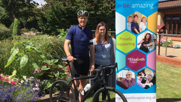 Local Businessman Gets on His Bike for Charity