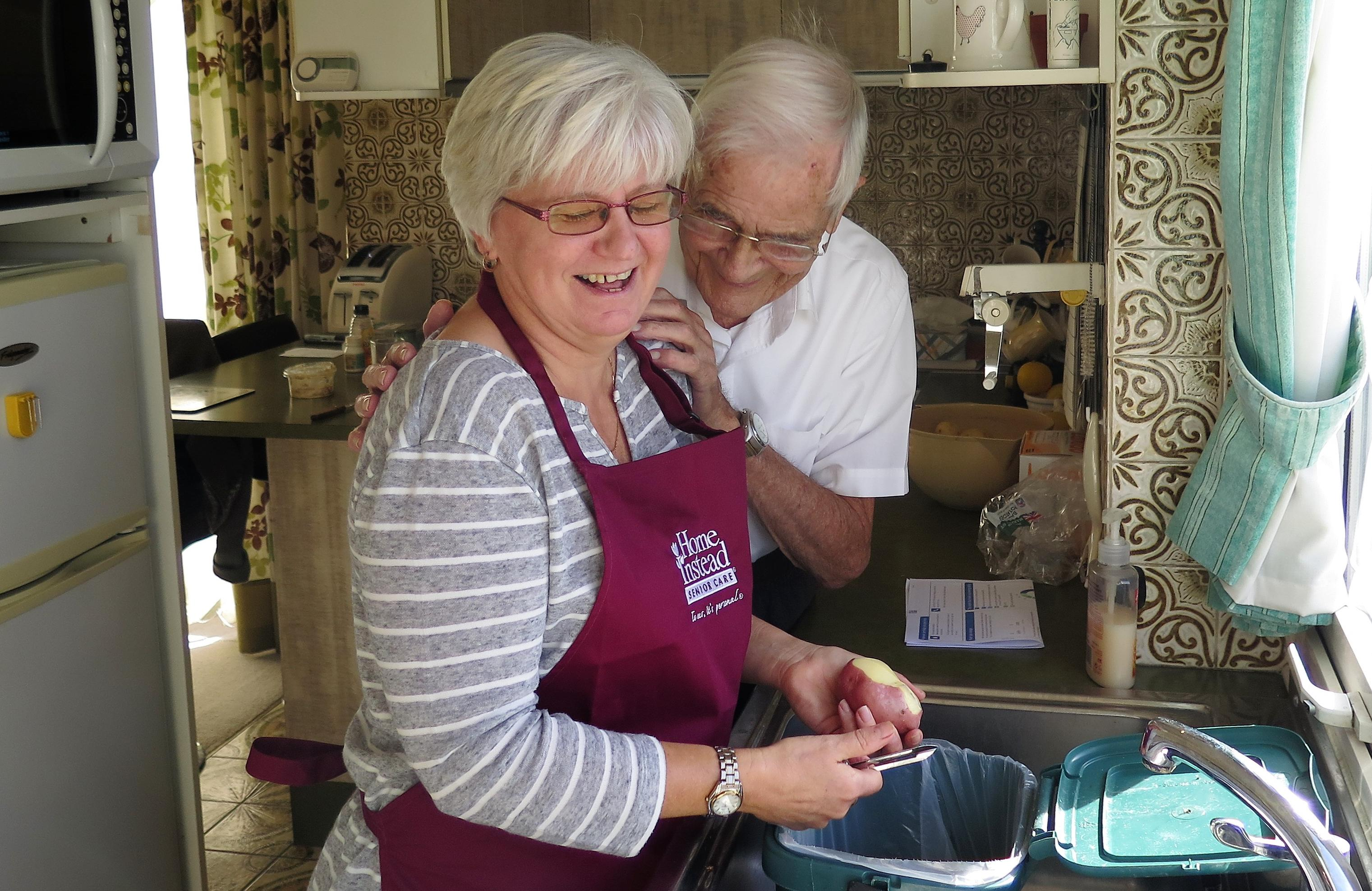 CAREGiver Elaine with Client Ted