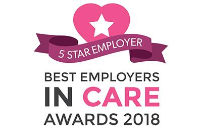 Best Employer In Care 5 star Award