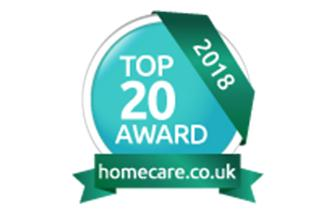 Top 20 home care awards