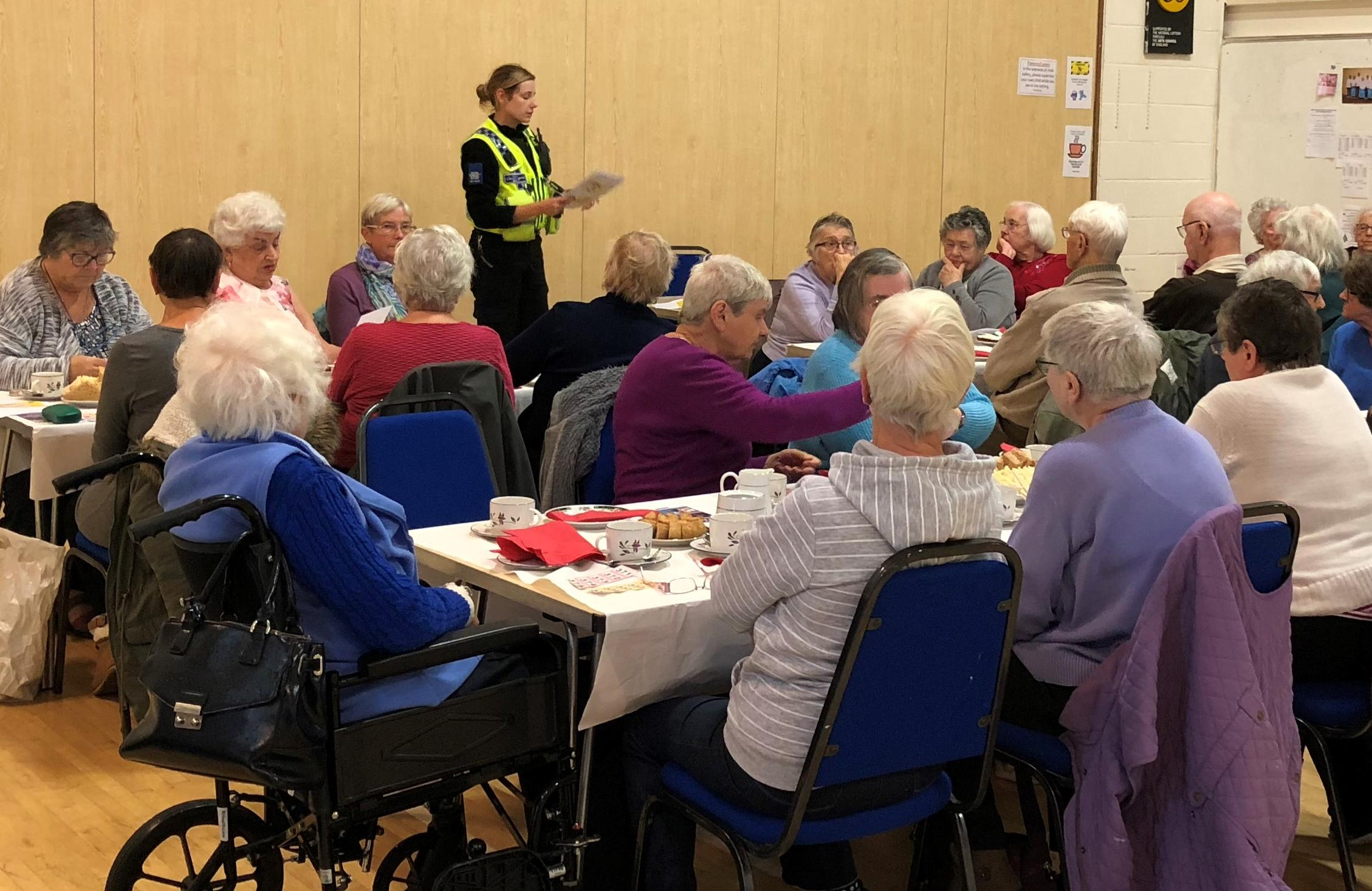 PCSO Heather Mills talking to the group