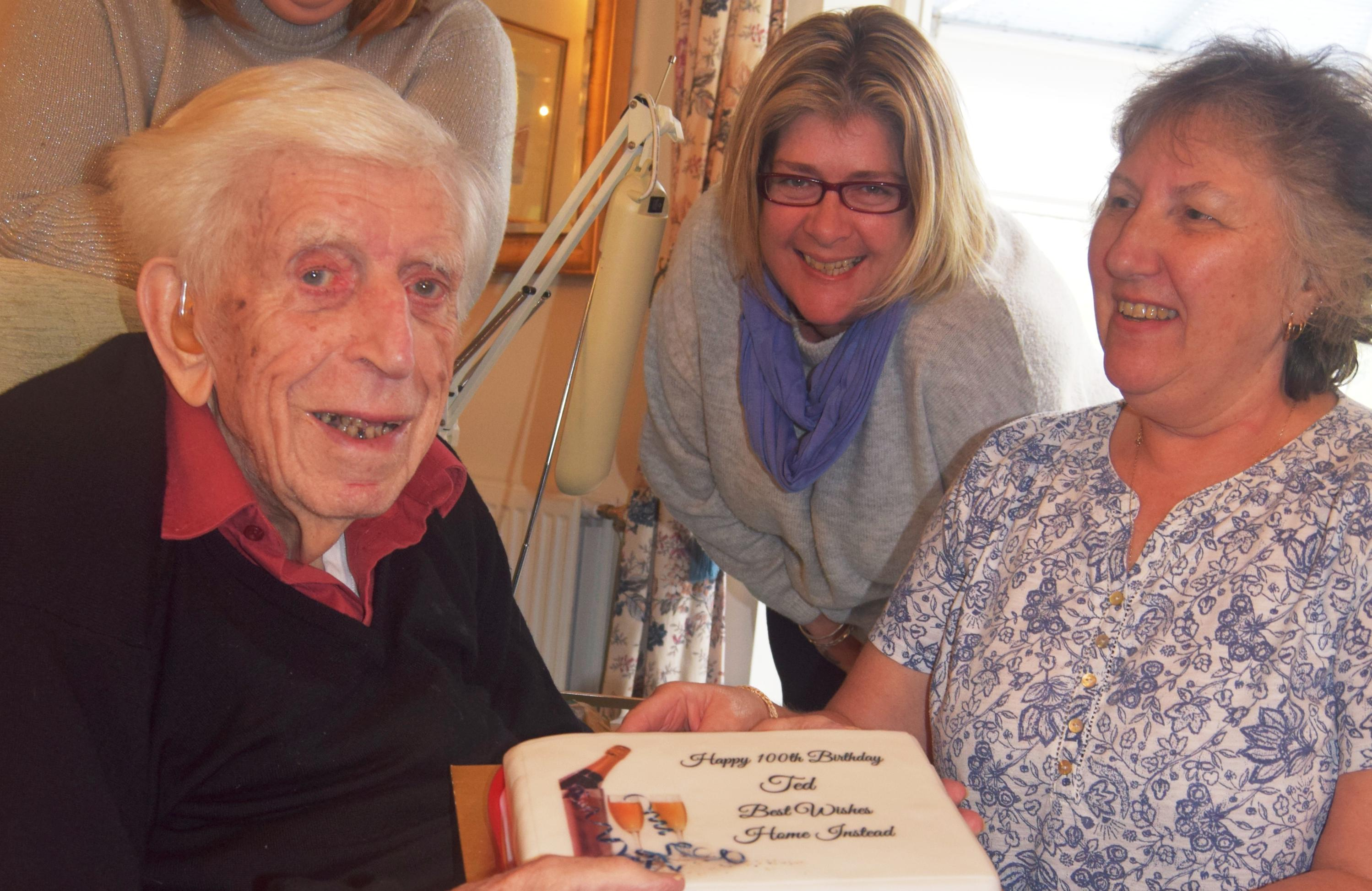 Photo of client's 100th birthday