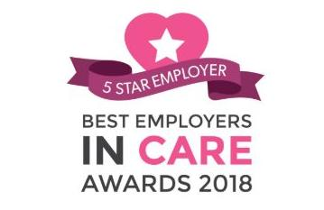 5 Star Employer award in the 2018 Best Employers in Care
