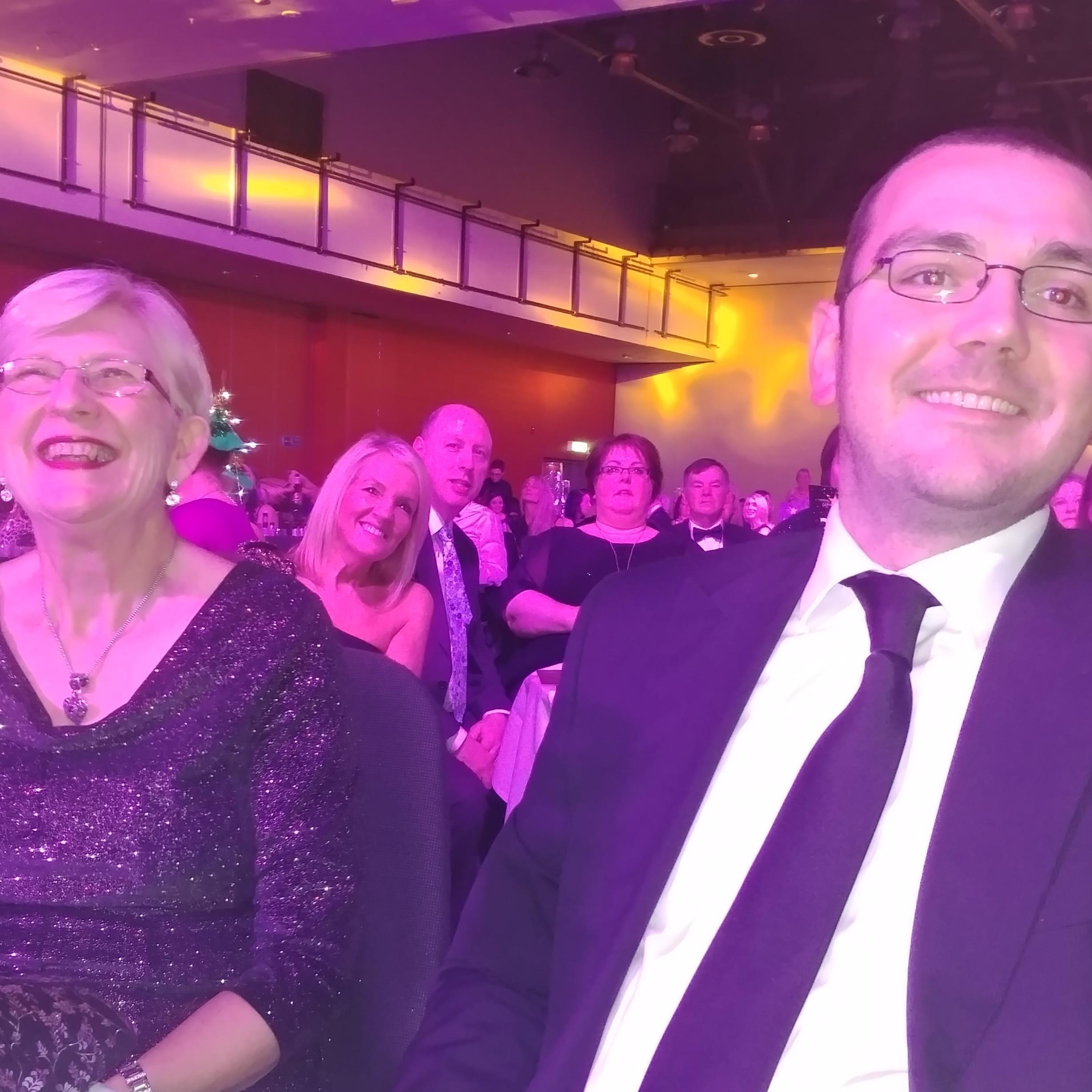 Photo of Lesley Webber at awards ceremony