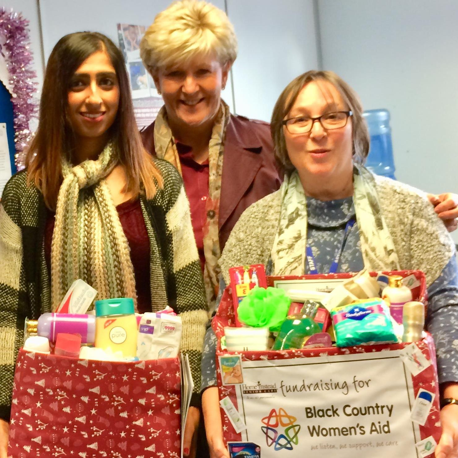 Collecting toiletries for Women's Aid this Christmas
