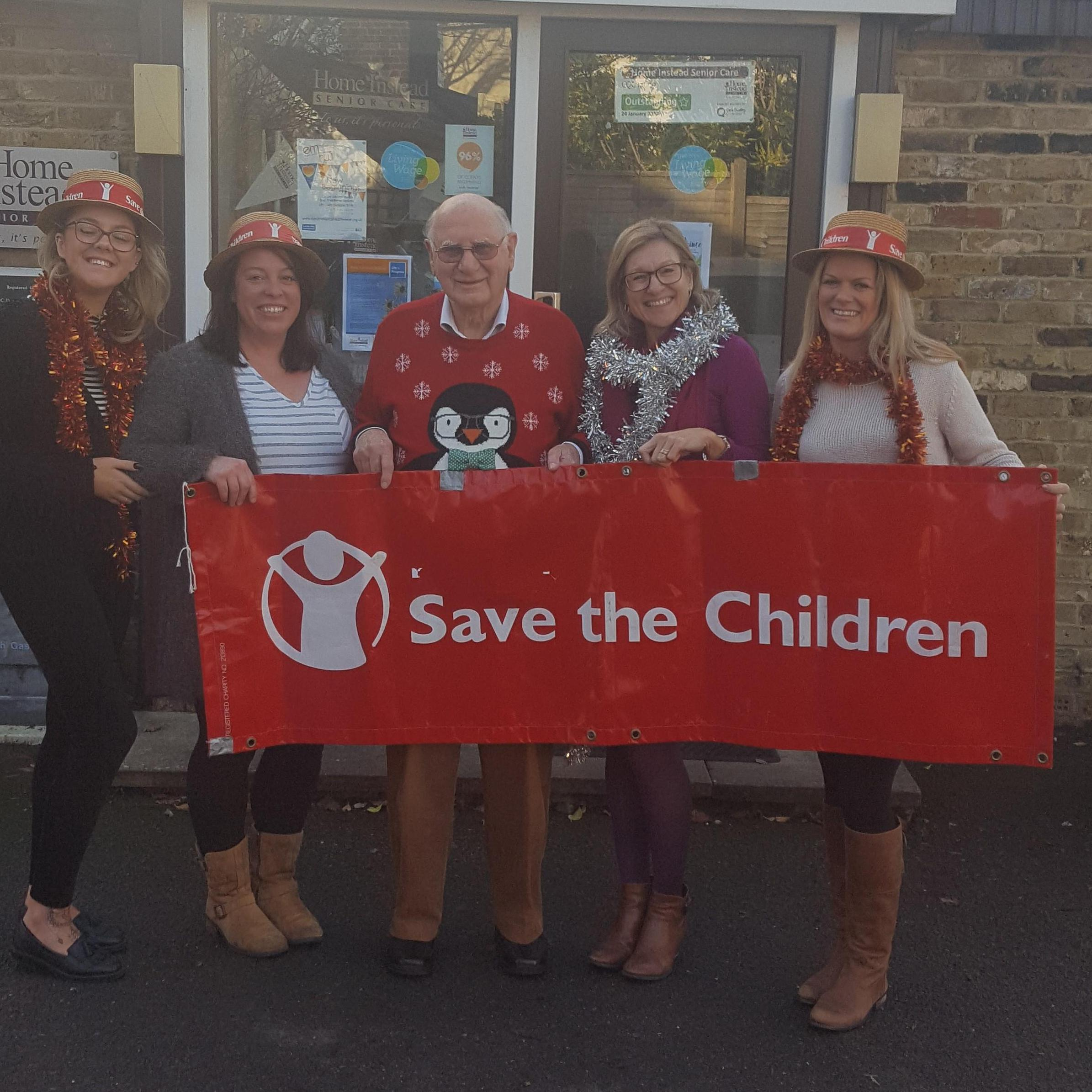 Pictured with Ray Kasey from Save The Children