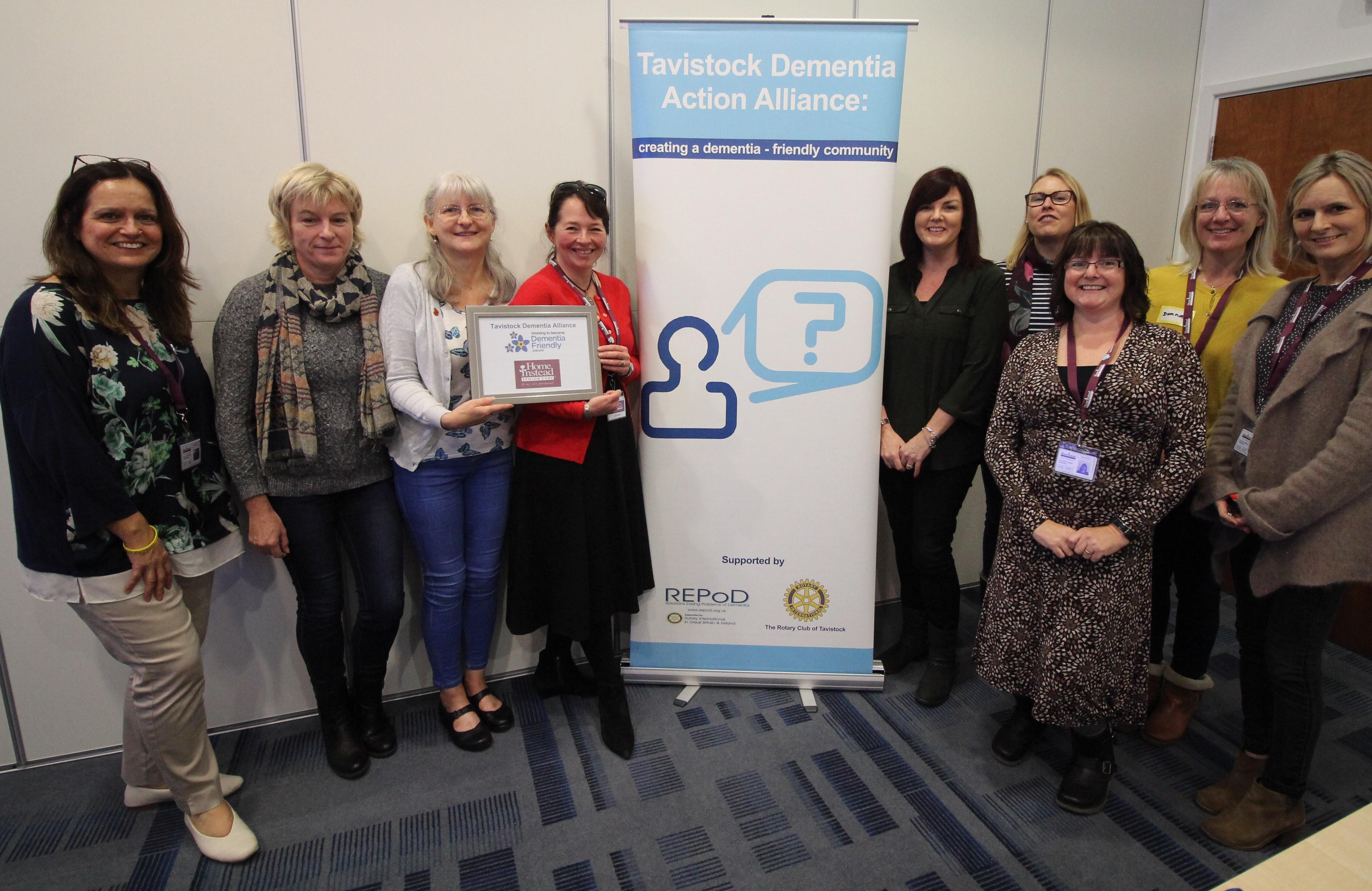 Dementia Friendly Organisation with Tavistock Dementia Alliance