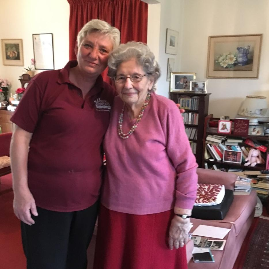Nicky has helped Merriel to remain independent in her own home over the last 2 years, since coming out of hospital