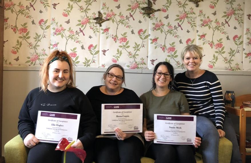 New Home Instead Caregivers receive their Certificates