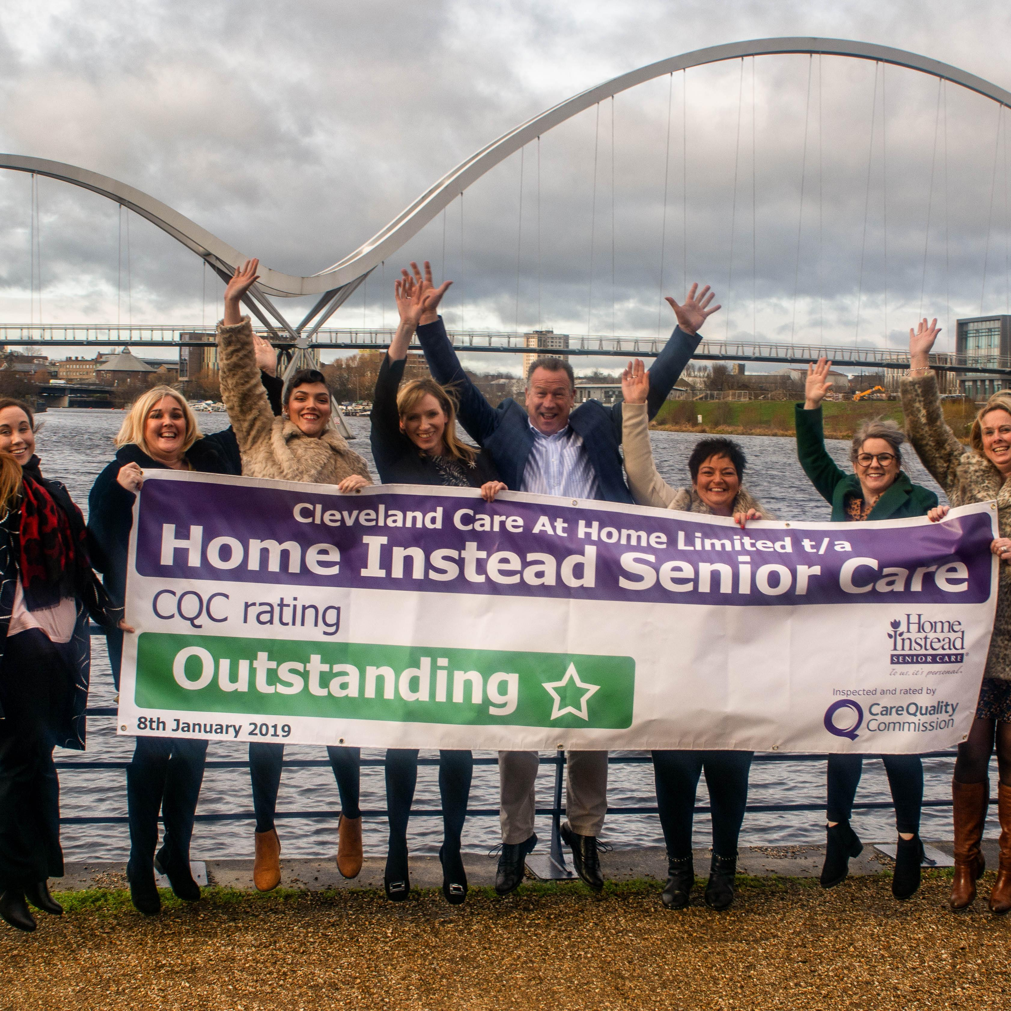 Home Instead Cleveland happy with OUTSTANDING CQC award