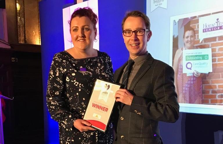 Clare winning carer of the year