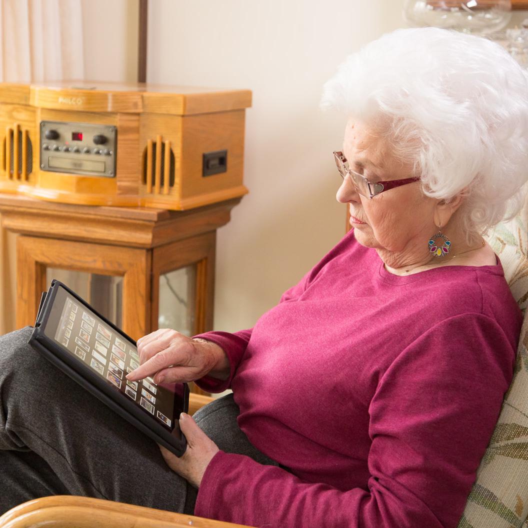 Lady with iPad