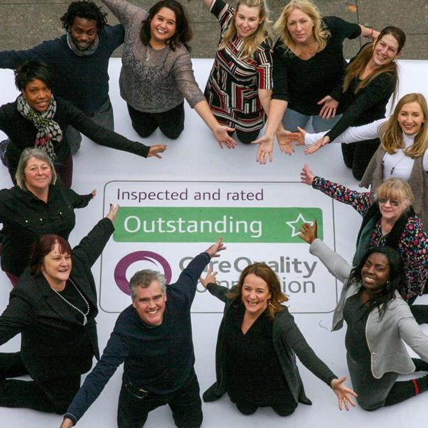 Home Instead Richmond celebrate being rated outstanding by the CQC