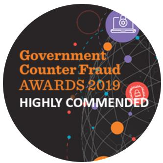 Award win Government Counter Fraud Awards 2019