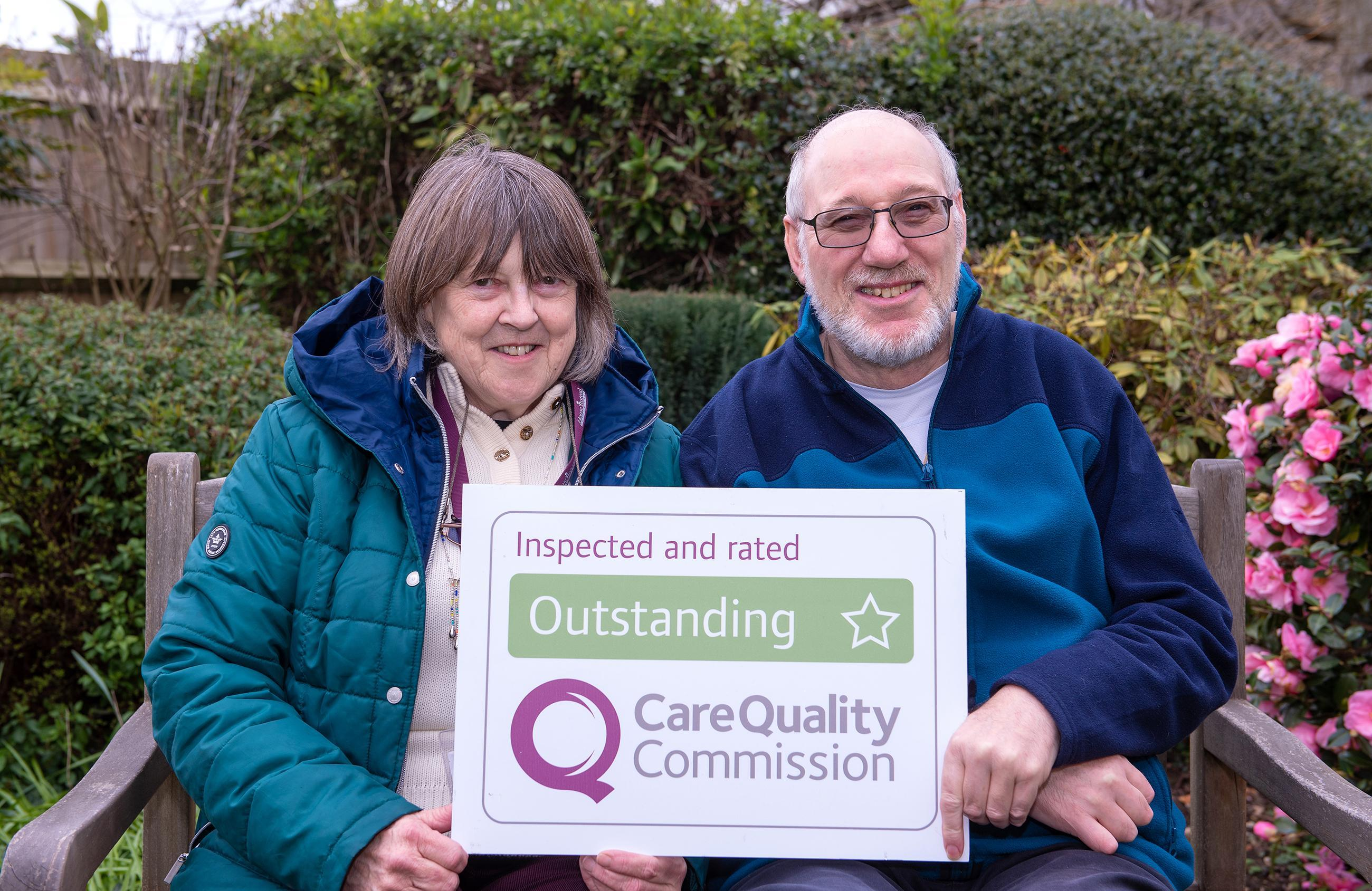 Photo of CAREGiver and client from Home Instead Havant