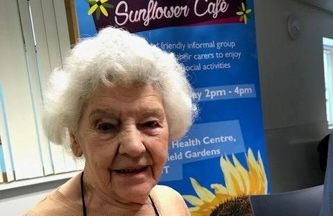 Margaret at the Sunflower Cafe