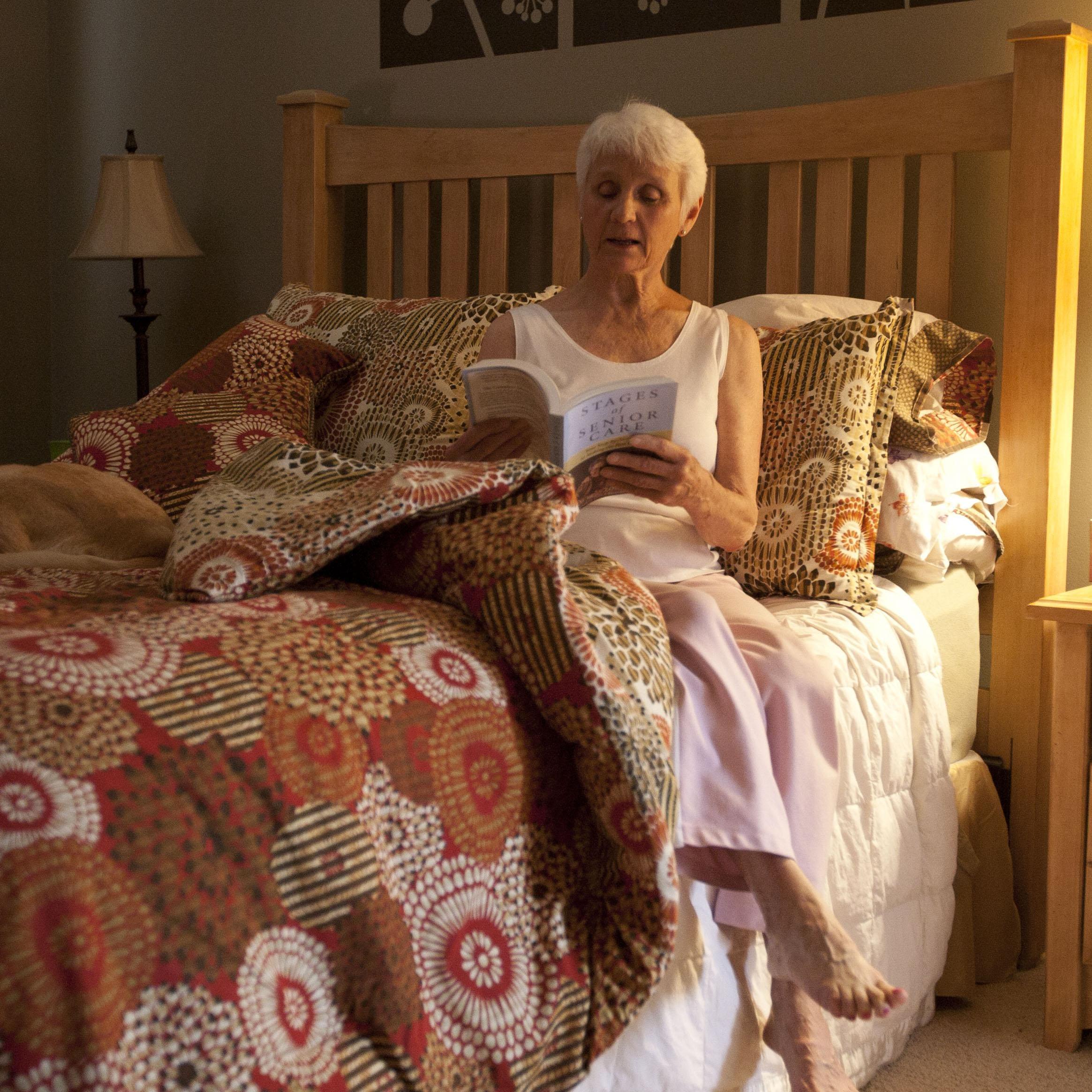 senior lady in bed