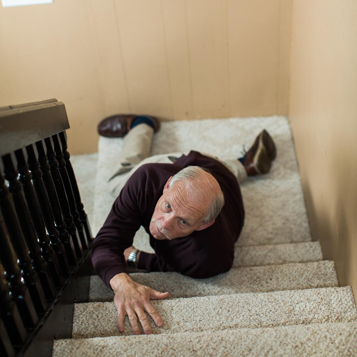 older person falling at home