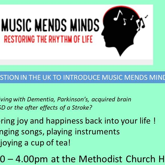 Music Mends Minds Rotary dementia stroke parkinsons