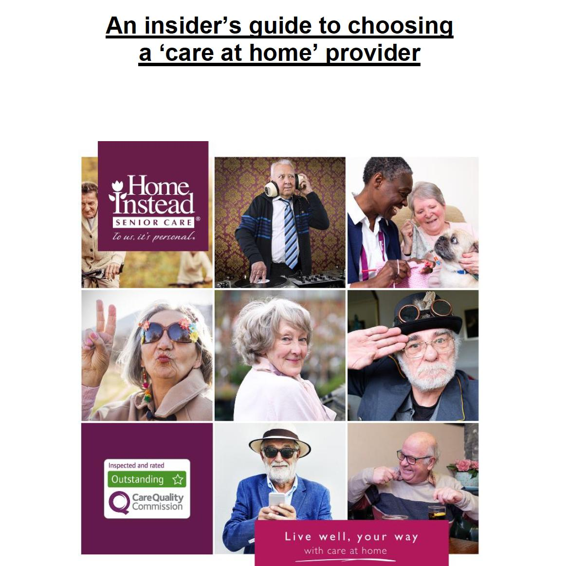Guide to choosing care at home domiciliary care