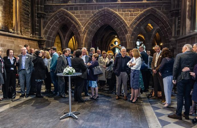 Photo of attendees at Chester Cathedral