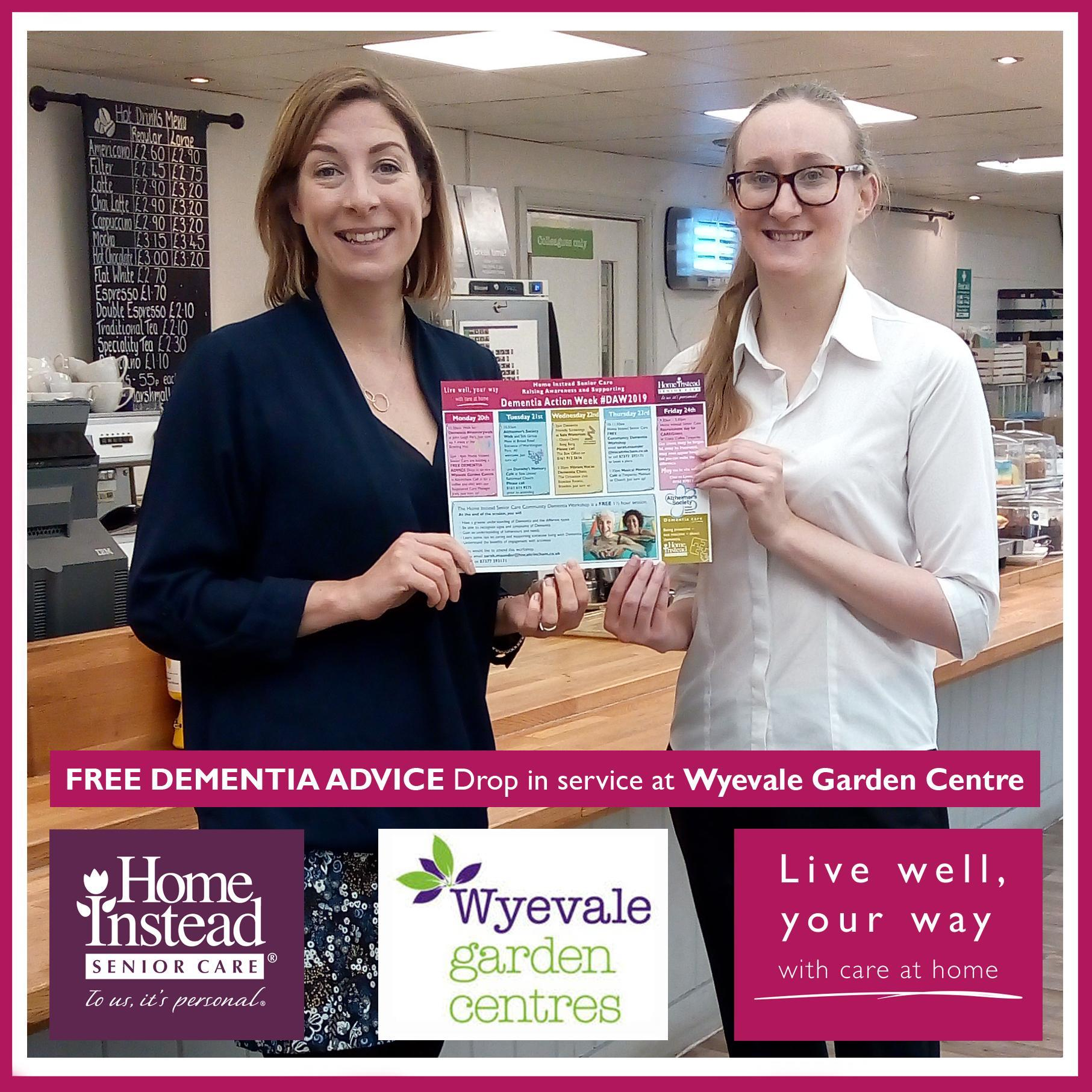 free dementia advice drop in service at Wyevale Garden Centre