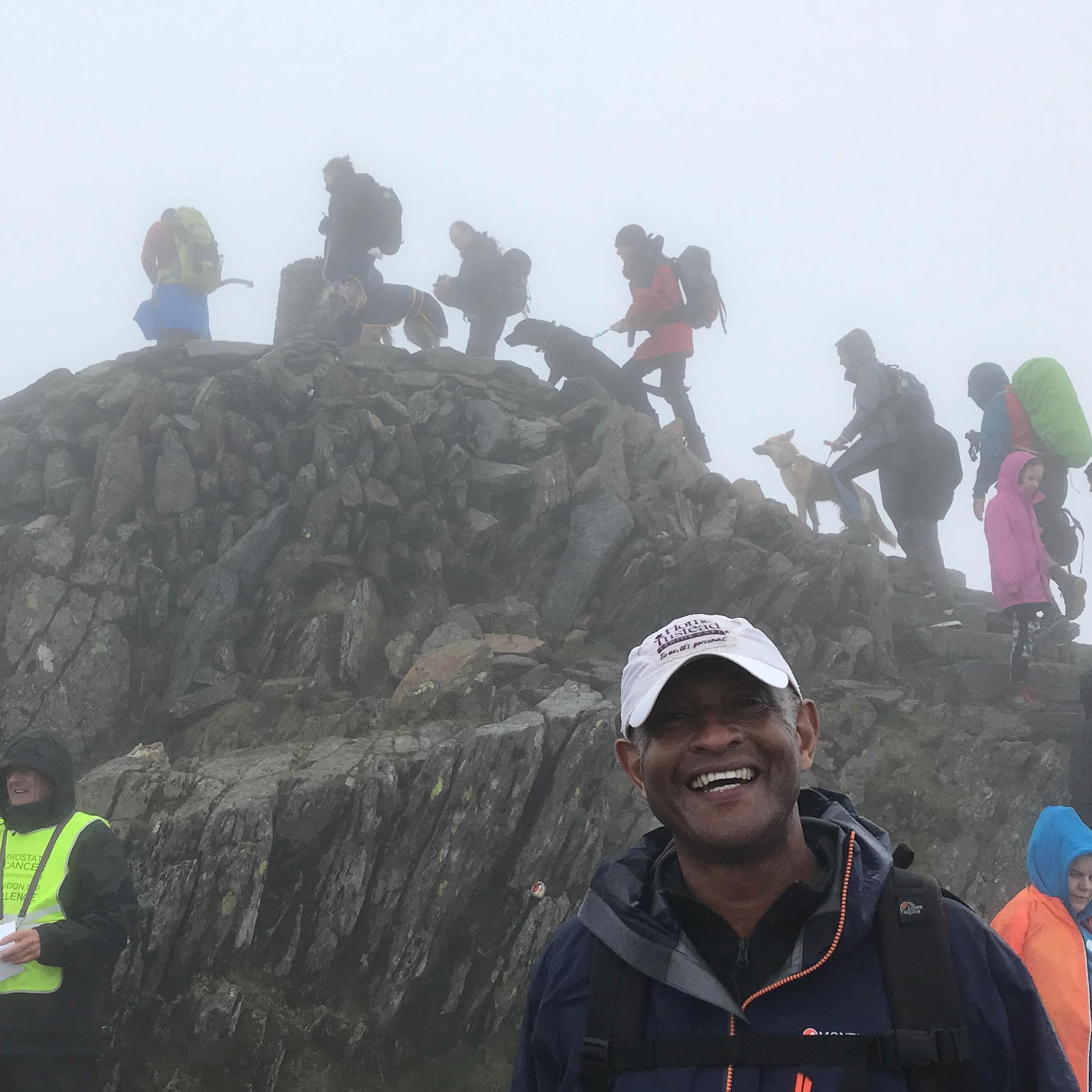 Tony summits Snowdon
