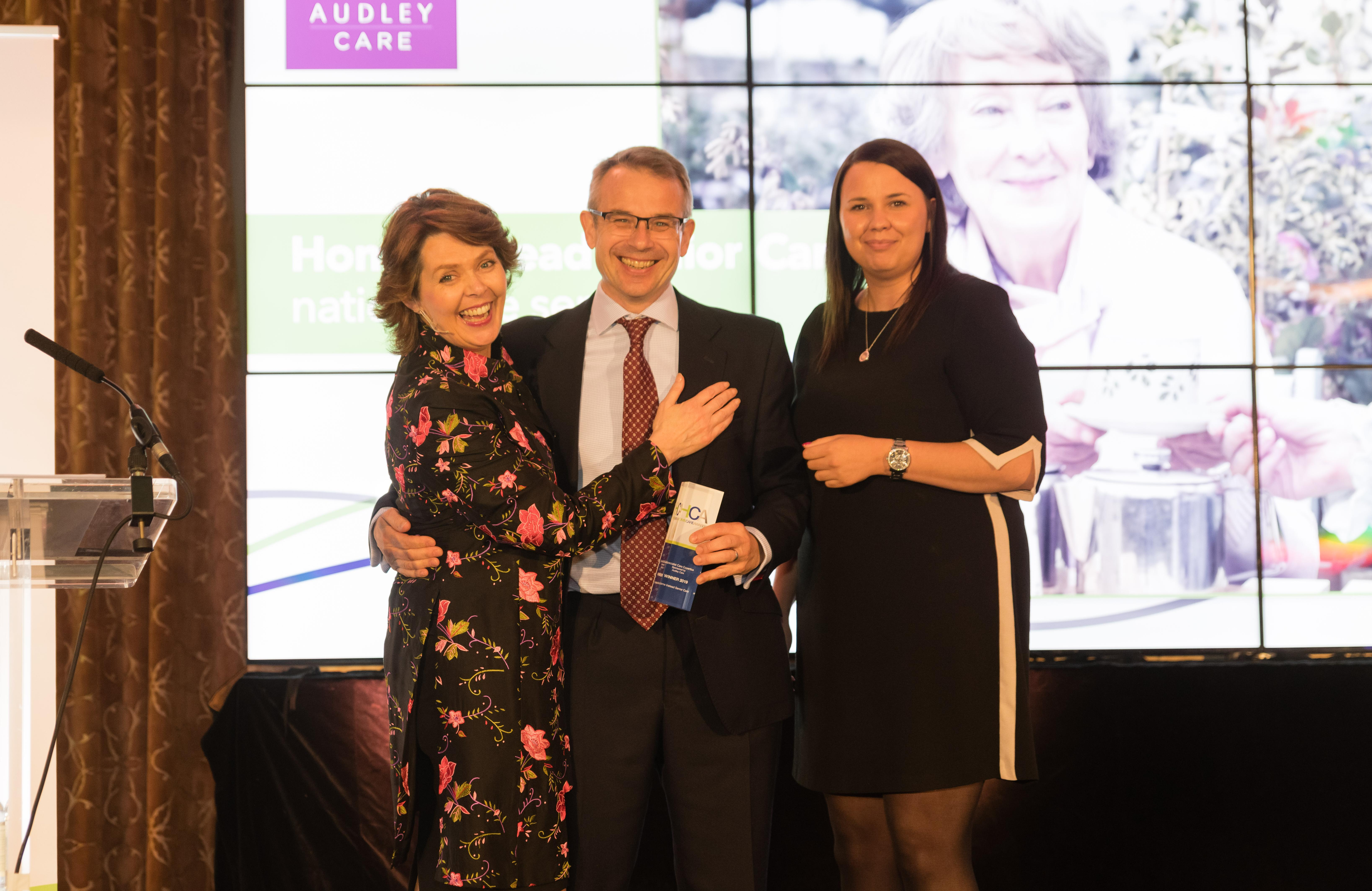Photo of Mark Laing at Home Care Awards 2019
