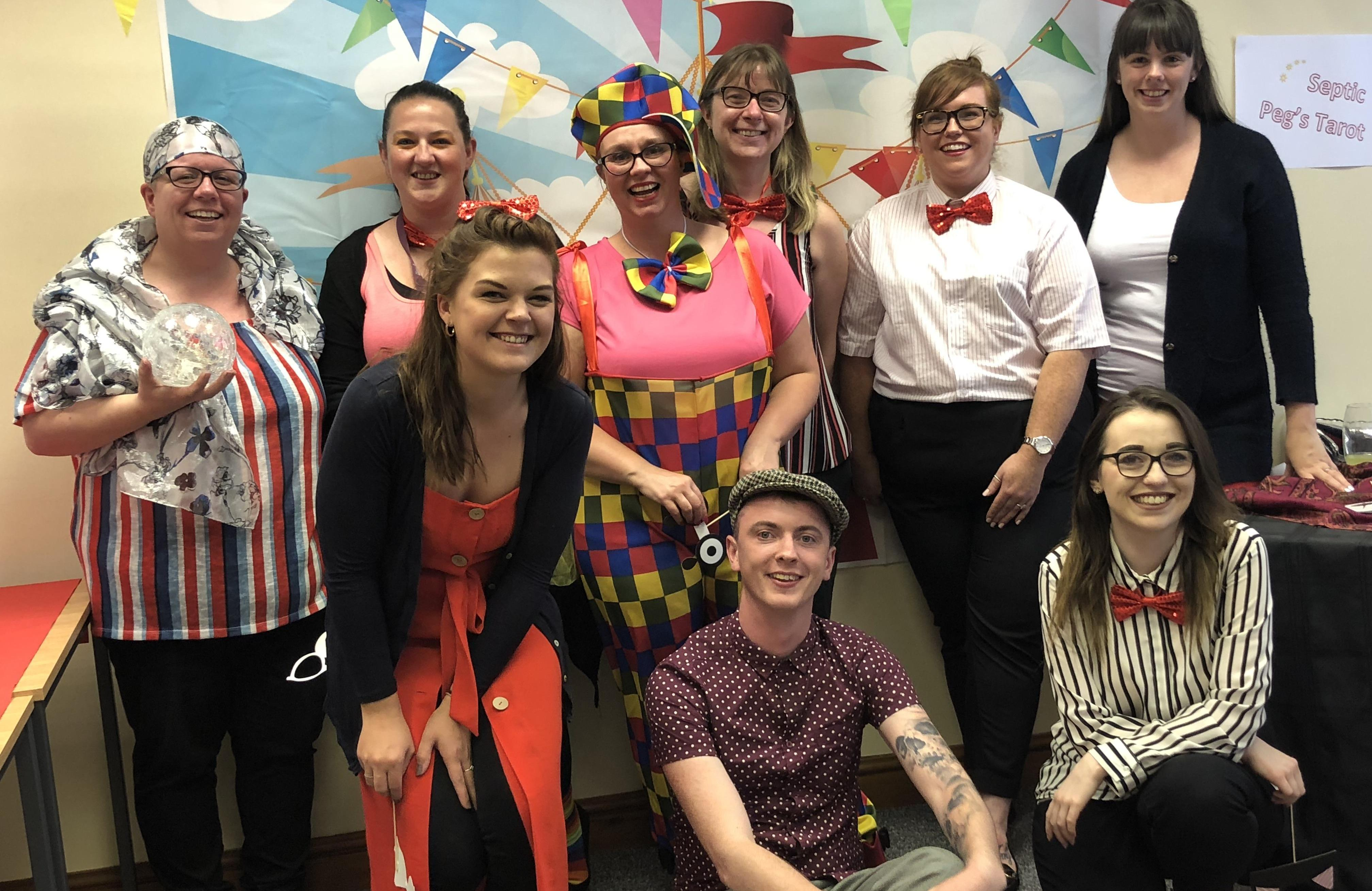 PEAQ Carnival with Office Staff dressed up