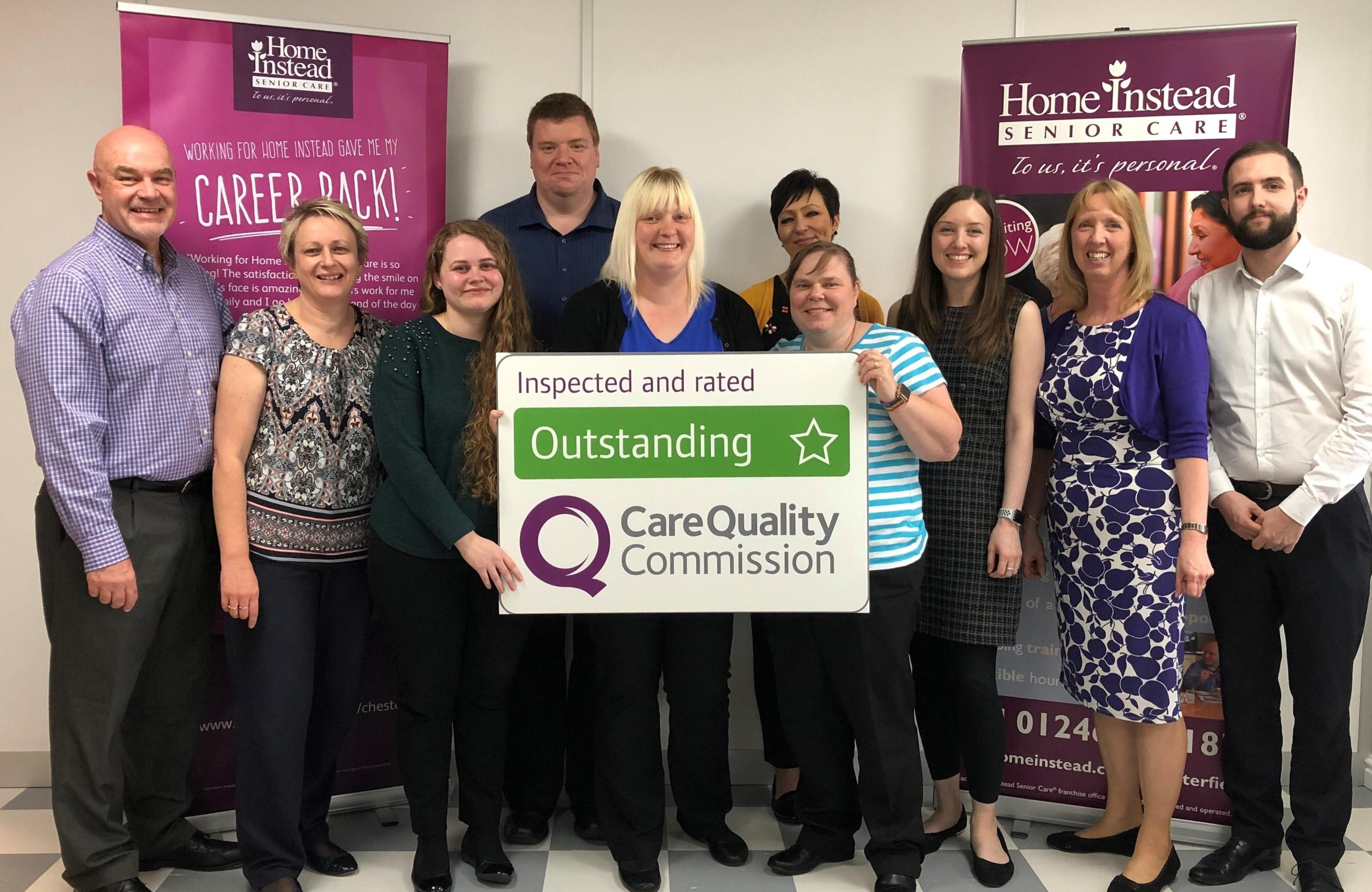 Photo of Home Instead Chesterfield with CQC Outstanding sign