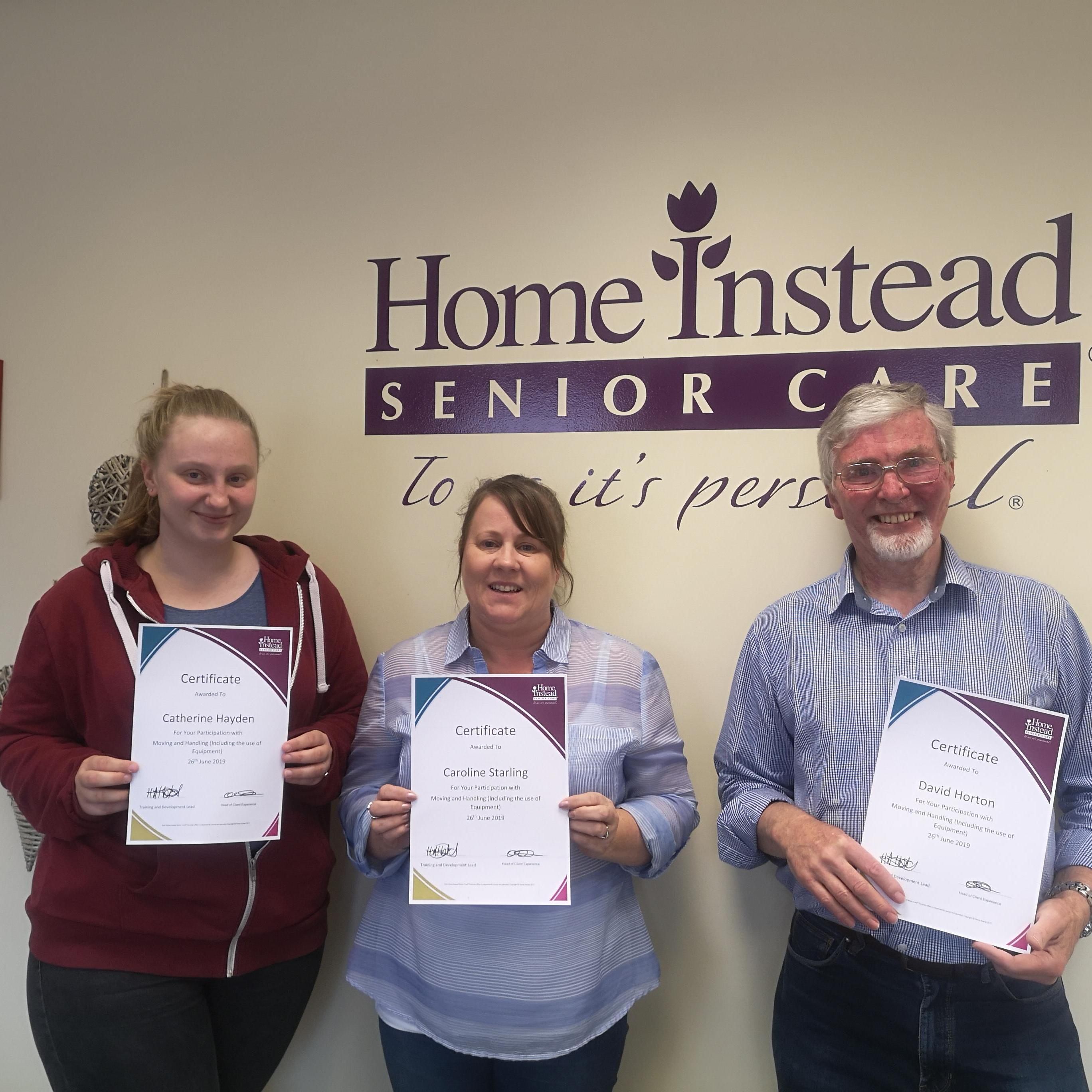 CAREGivers with Moving and Handling Certificates